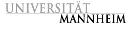 Logo der Universität Mannheim